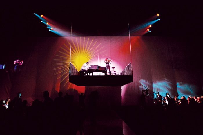 Performance stage at Broad Contemporary Art Museum's party in Los Angeles #event #stage #design