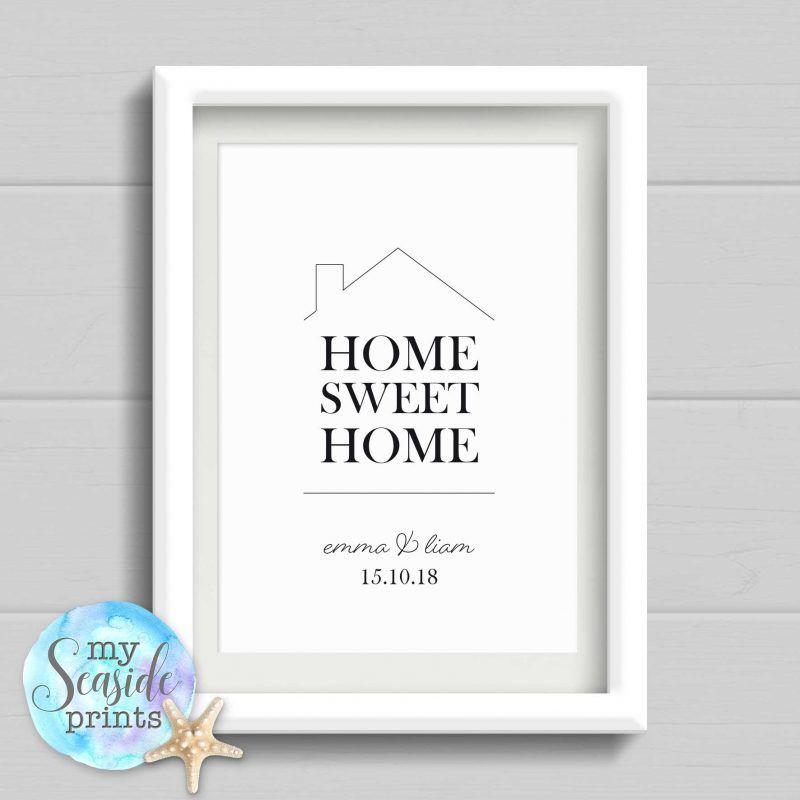 home sweet home personalised housewarmin