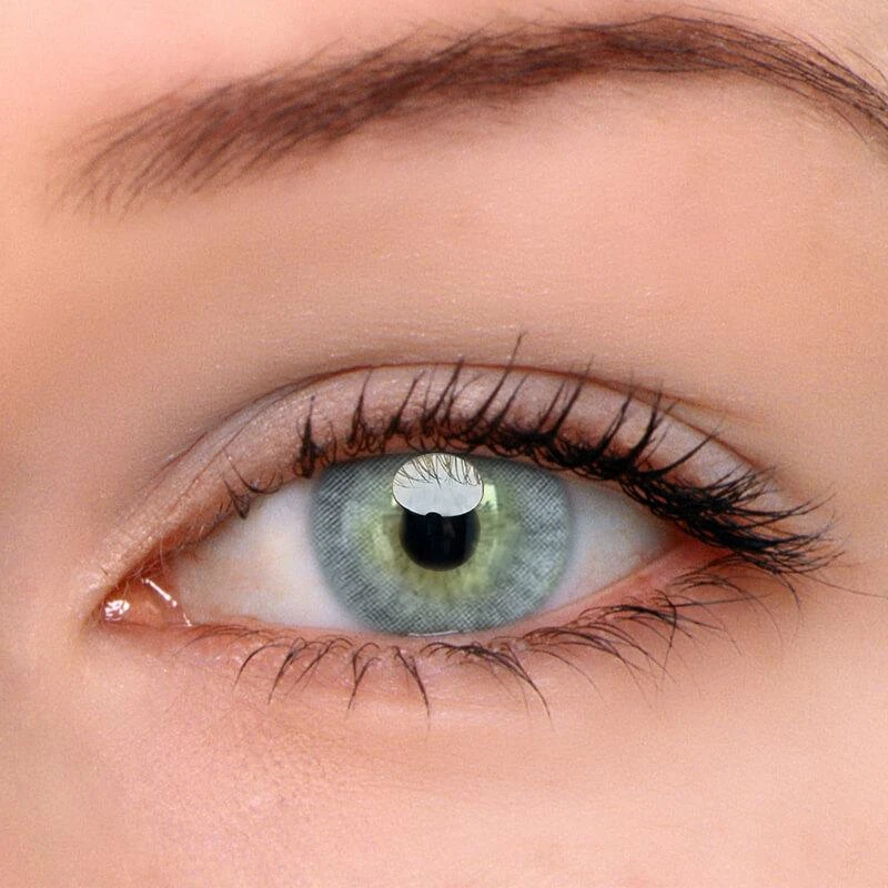 Ttdeye Hd Green Grey Colored Contact Lenses In 2021 Contact Lenses Colored Green Contacts Green Colored Contacts