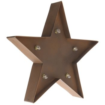 Rust Western Metal Star Lighted Sign Hobby Lobby Metal Stars Lighted Signs Mirror Wall Decor