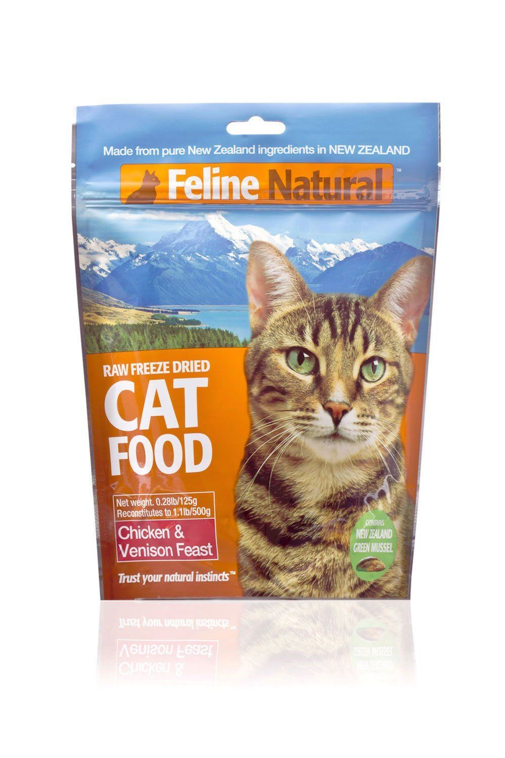Feline Natural Raw Freeze Dried Chicken Venison Feast