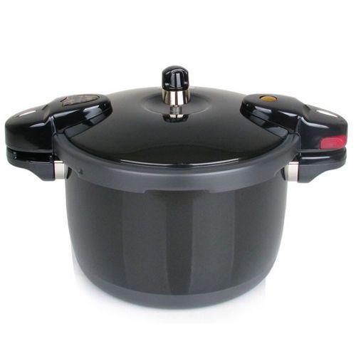 NEW kitchenart Noir alluminium Pressure Cooker 5.5L