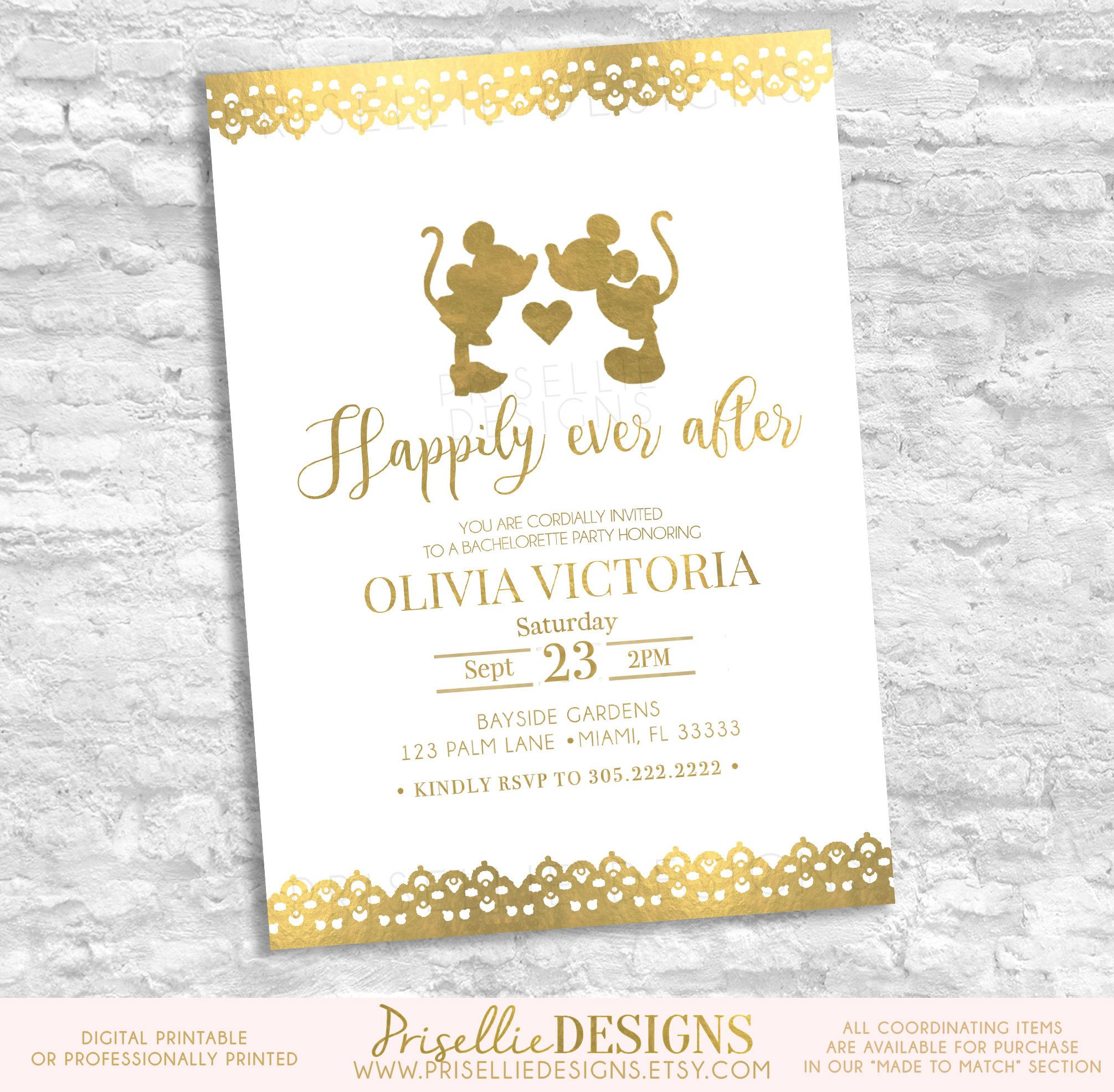 Disney Bachelorette Party Invitation, Disney Bride Tribe ...
