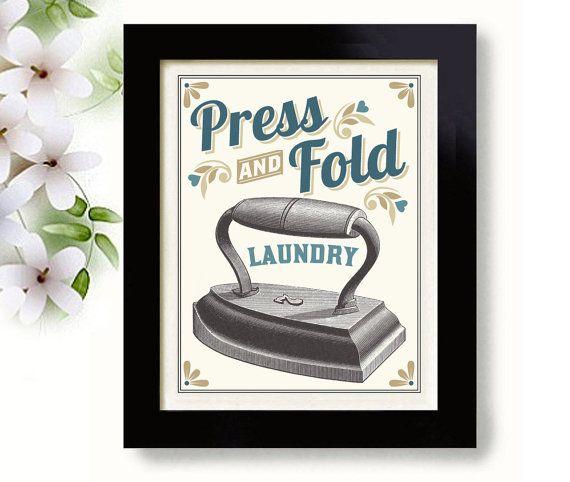 French Laundry New Kitchen: Laundry Room Decor Wall Art Print Kitchen Art Iron Laundry