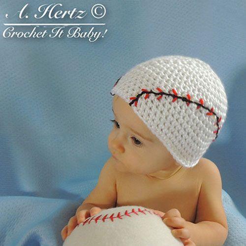 Hand Made Crochet Baseball Beanie