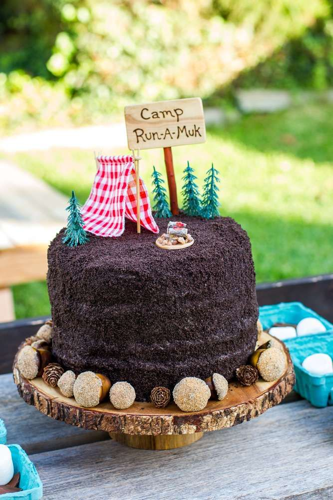 Camping Summer Camp Birthday Party Ideas Photo 10 Of 47