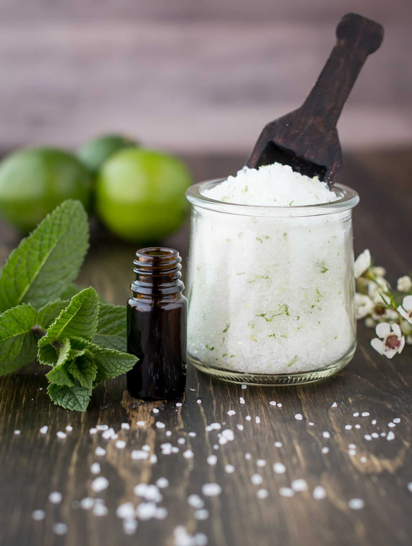 Diy mojito bath salts with printable labels recipe
