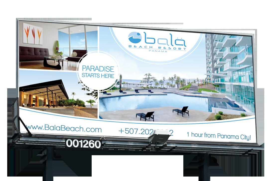 Real estate billboard design samples - Bala Beach Resort Billboard Design