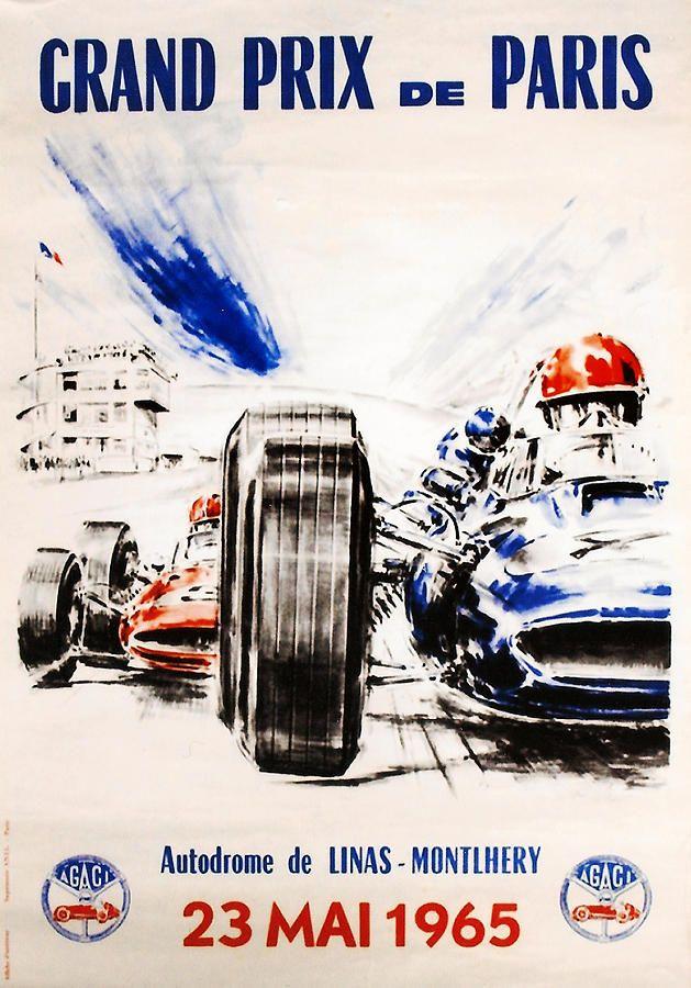 1965 Grand Prix De Paris By Georgia Fowler In 2021 Auto Racing Posters Vintage Racing Poster Racing Posters