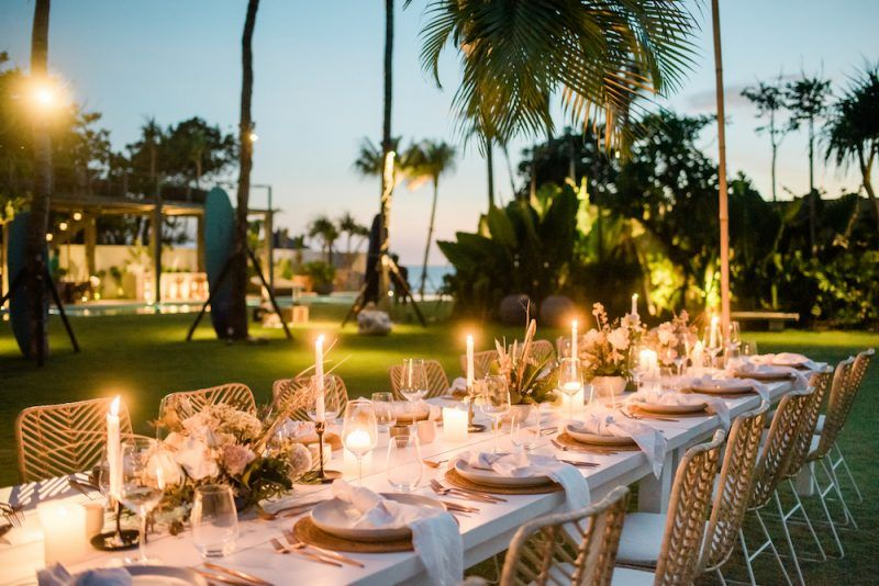 A Dreamy Styled Shoot With Bali Event Hire At Noku Beach House Seminyak Bali Wedding Inspiration The Bali Bride Bali Wedding Styled Shoot Picnic Style