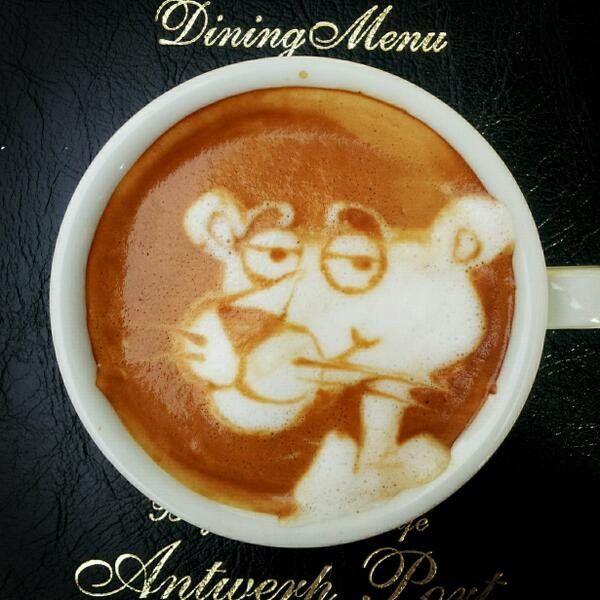 dessin mousse cafe