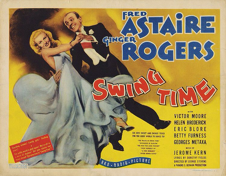 Lobby Card from the film Swing Time Canvas art, Fred