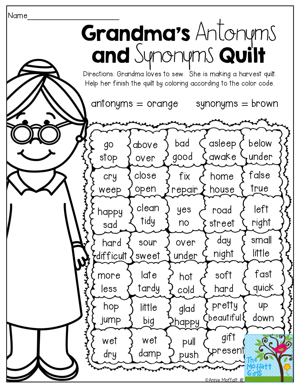 worksheet Identifying Synonyms And Antonyms Worksheets a fun way to review antonyms and synonyms education pinterest synonyms