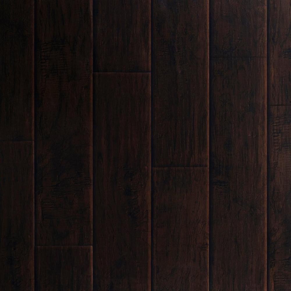Dark Hampton Hickory Hand Scraped Luxury Vinyl Plank 4 2mm