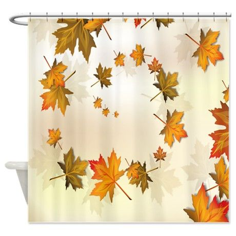 Beautiful Nature Fall Autumn Leaves Shower Curtain By Jvande