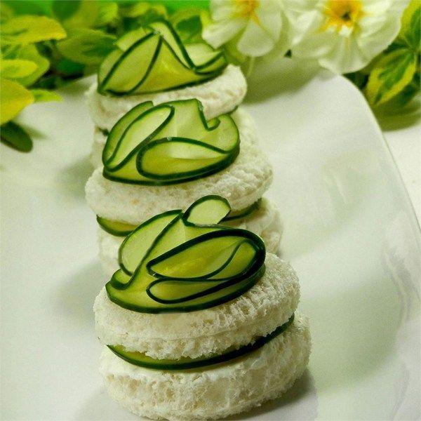 Mini Cucumber Caterpillars Recipe: Cucumber Sandwiches III Photos - Allrecipes.com