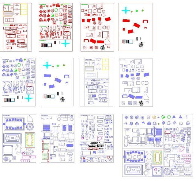 Fantastique Nouvelle bibliothèque de bloc Autocad en dwg | Génie civil et LO-24