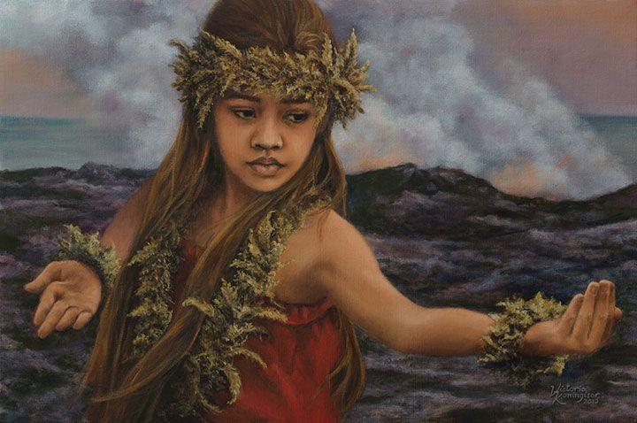hula painting   Hawaiian art, Polynesian art, Hawaii art