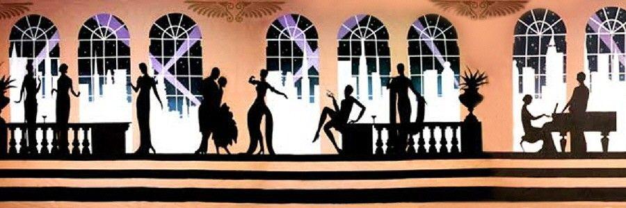 Art Deco Backdrop Party Black And White Pinterest