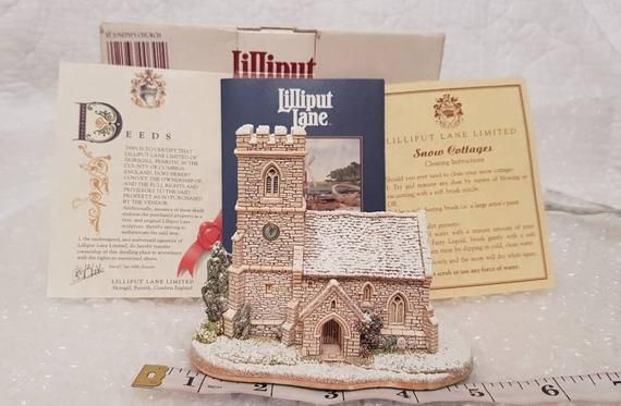 Lilliput Lane ST JOSEPH'S CHURCH 1993 Brand New -  Vintage Snow Winter Christmas Collection - Black Friday #churchitems