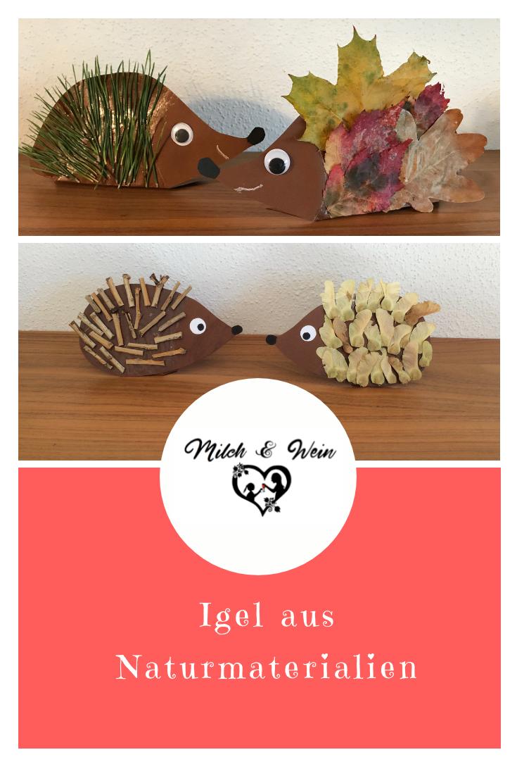 Basteln Im Herbst Igel Aus Naturmaterialien Kinder