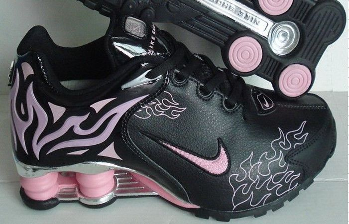 best quality fashion style meet Nike Shox R4 Torch Women Sneakers(Black Pink) | Shoes I like ...