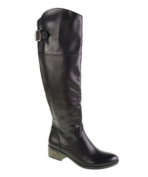Take a look at this Laundry List Black Classic Riding Boot on zulily today!