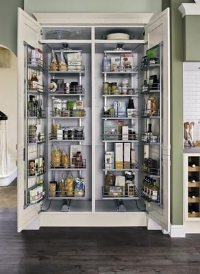 Full height pull swing larder units kitchens for Full height kitchen units