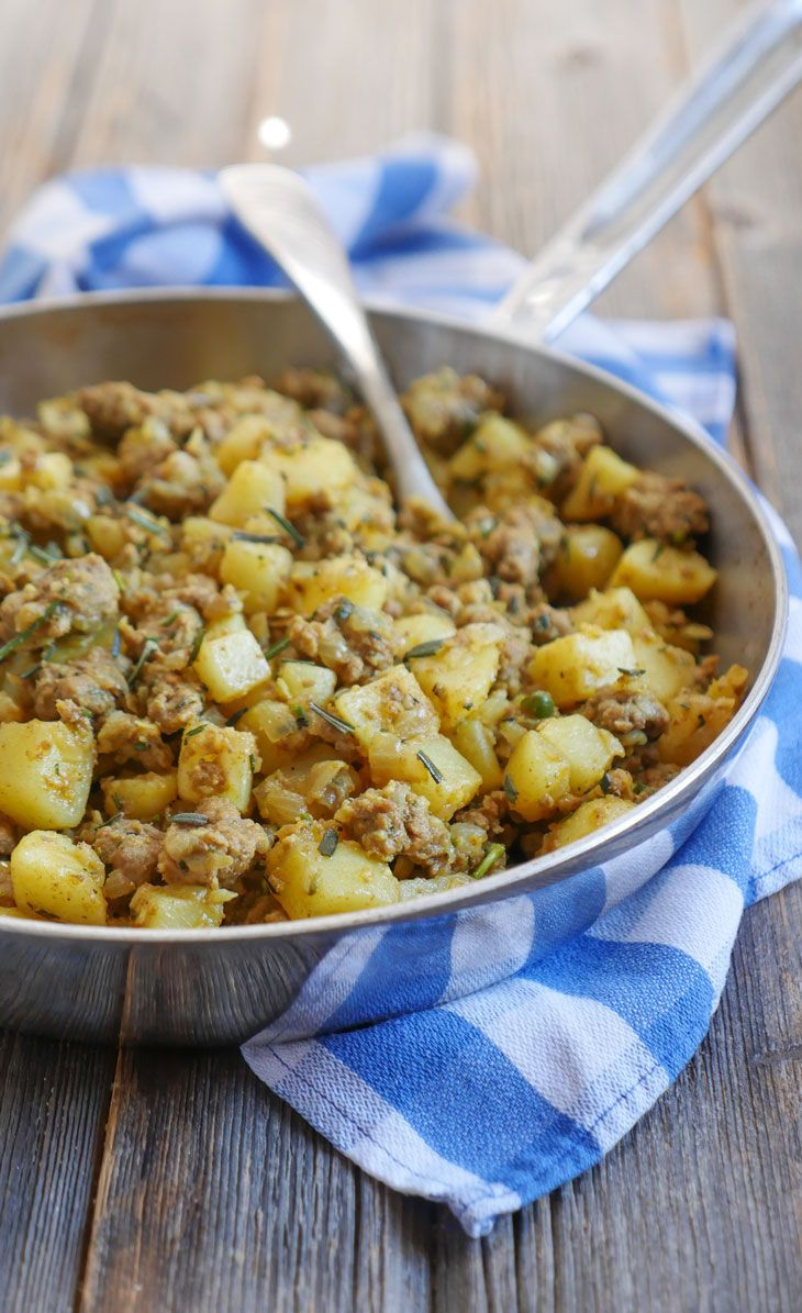 Rosemary Garlic Ground Lamb and Potatoes   My Heart Beets
