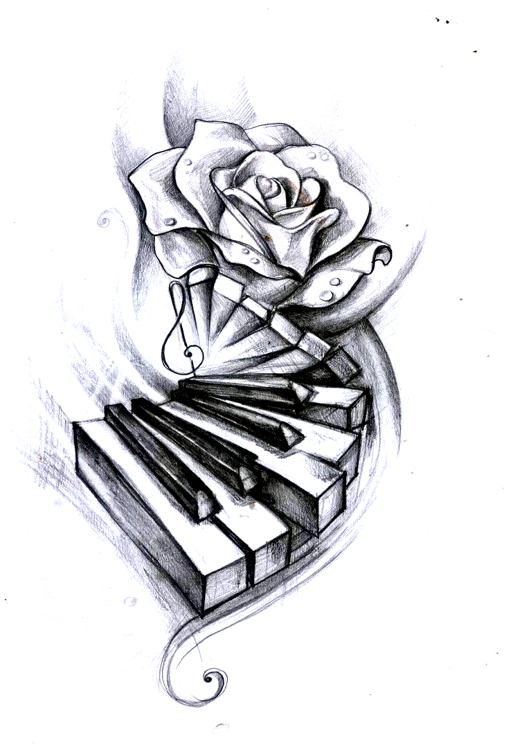 Watercolour Pencils On Paper A5 Tattoo Design For A Friend In 2020 Music Drawings Music Tattoo Designs Tattoo Drawings