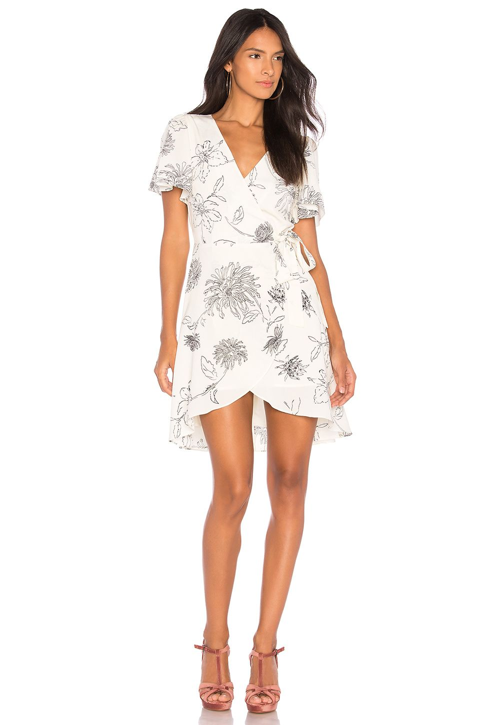 48749b8966f J.O.A. Surplice Dress in Ivory   Black