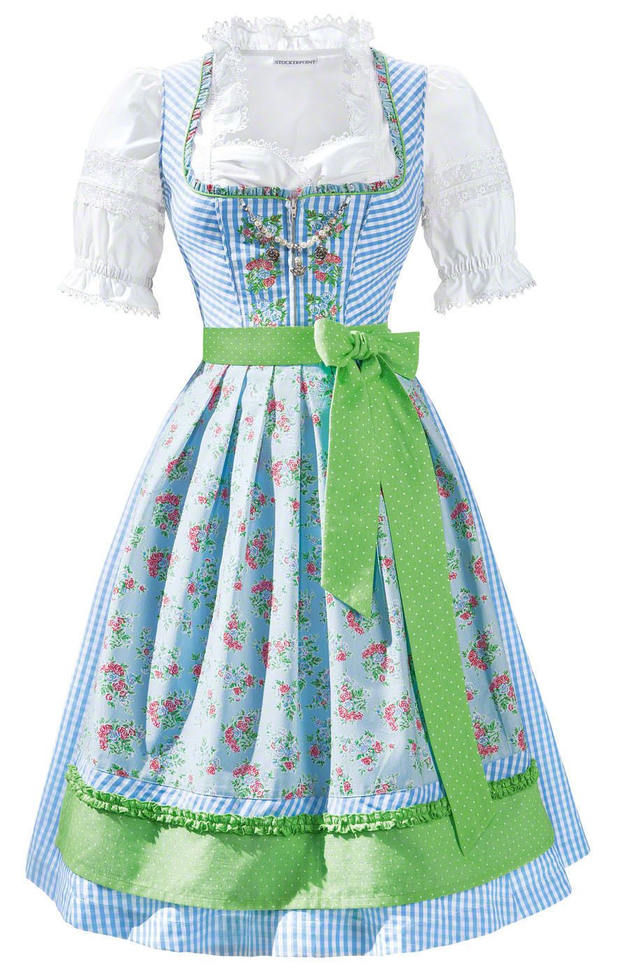 ab67aeafc1958d Details about Stockerpoint Midi dirndl 2 parts Faye light blue 27.6 ...
