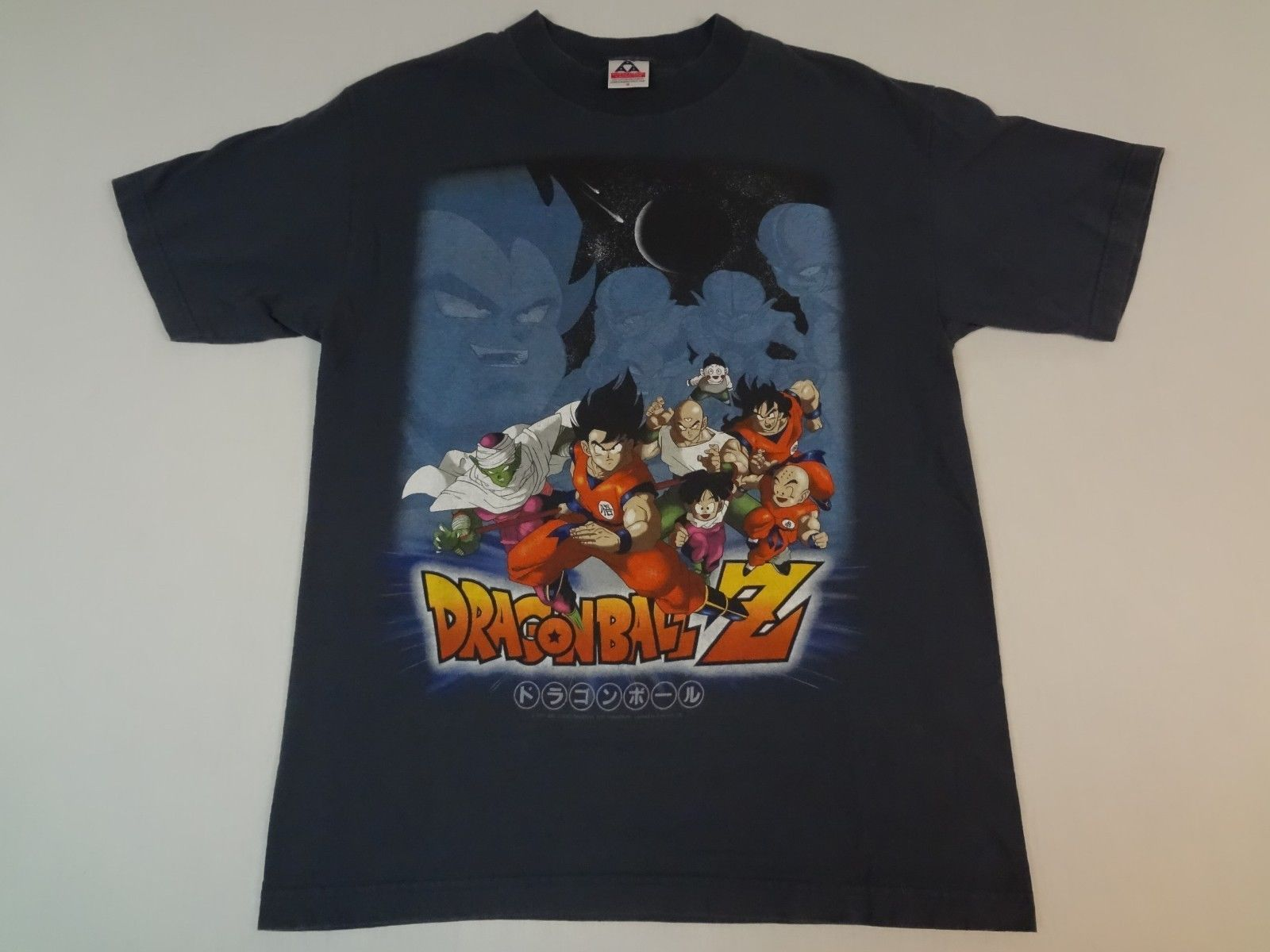 vintage dragon ball z main characters and villains medium blue t shirt k627 ebay t shirts. Black Bedroom Furniture Sets. Home Design Ideas