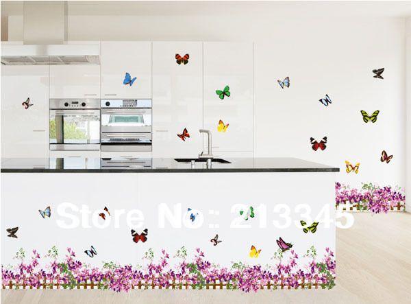 Image Result For Flower Butterfly Tile Backsplash Kitchen Wall Tiles Home Decor Wall Tiles