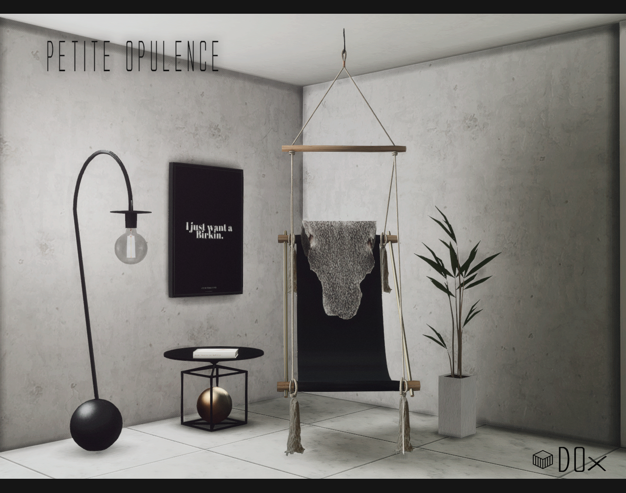 Hanging Chair The Sims 4 Plastic Tables And Chairs Dox 7 Petite Opulence Set Patreon Exclusive This Includes Ovis