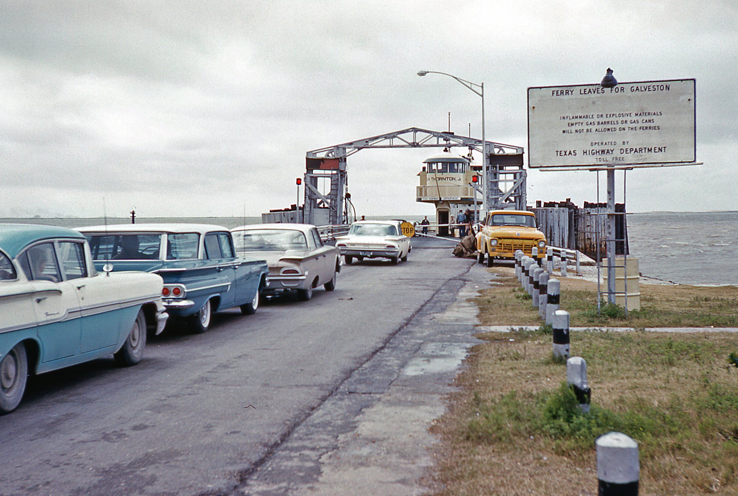 Galveston ferry november 1960 galveston texas 1960 for Houston fishing charters
