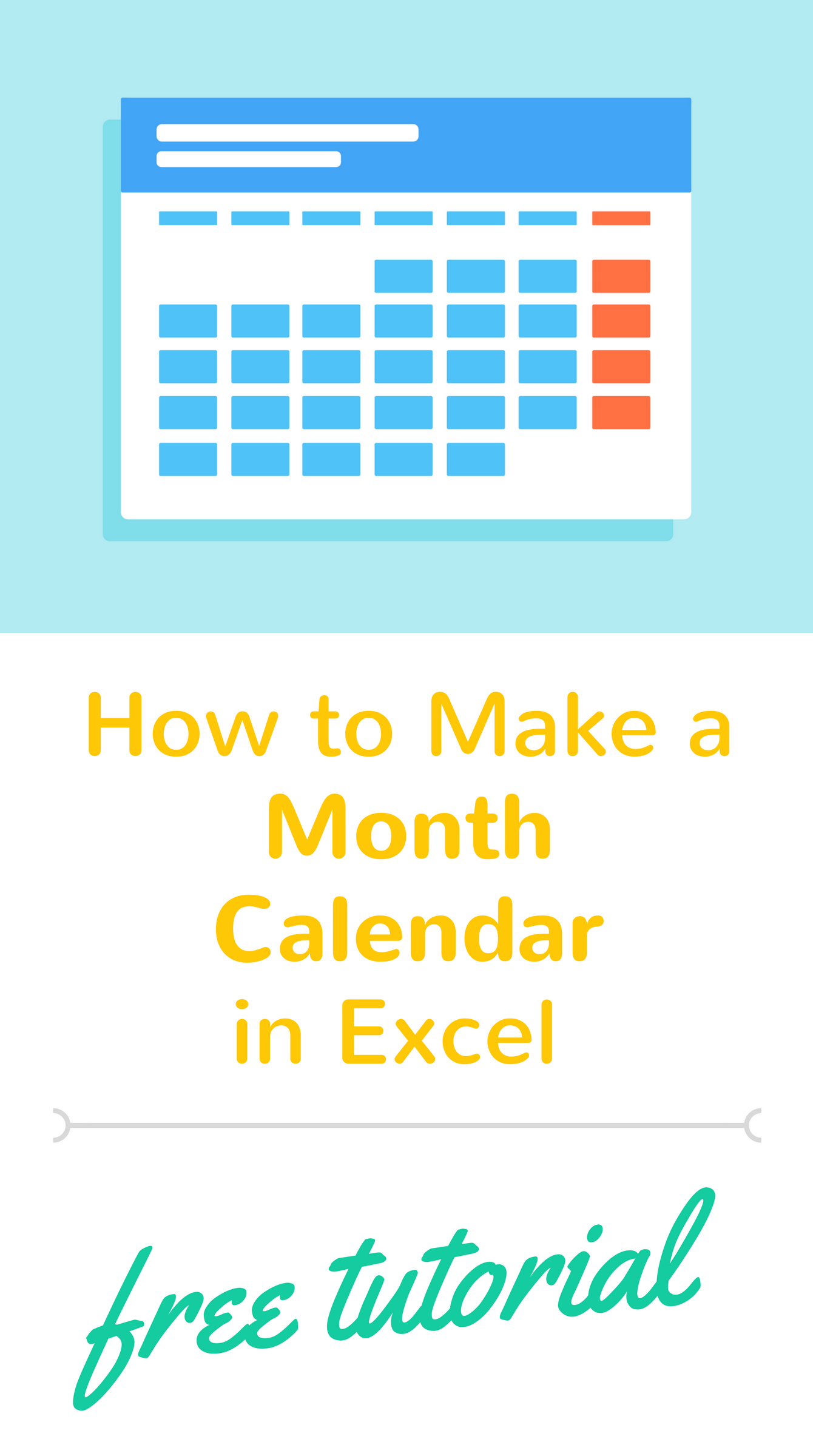 Tutorial On How To Create A Calendar In Excel We Ll Make