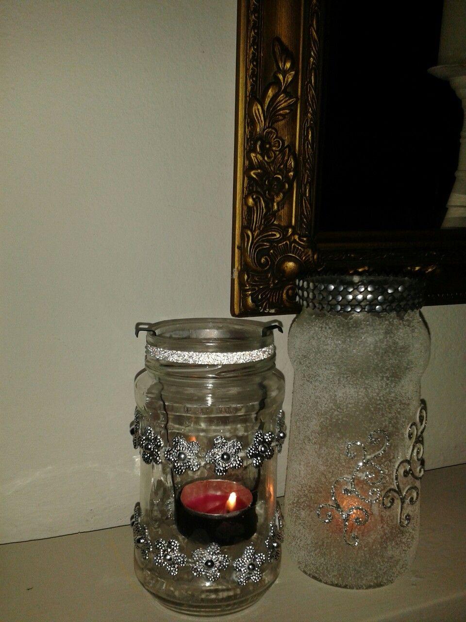 Glazen potje versierd met zout