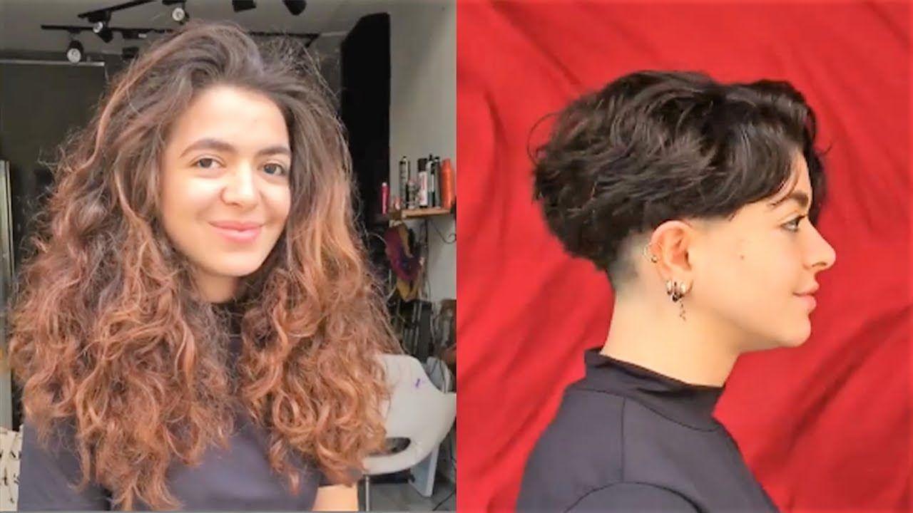Long hair to undercut with short hair girl undercut ideas men