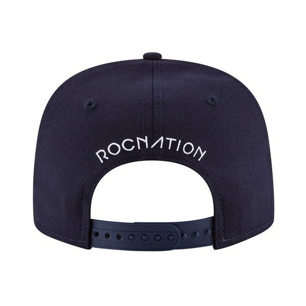 27e5706da1087 Roc Nation Paper Plane Snapback- Navy ( 60) ❤ liked on Polyvore featuring  accessories