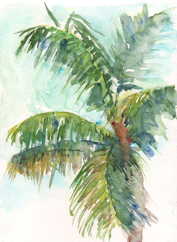 Palm 2014 01 02 Jpg 587 800 Palm Trees Painting Tree Painting