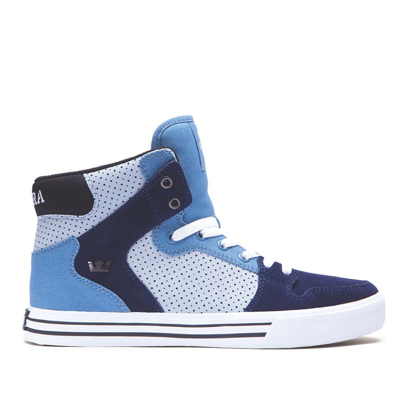 SUPRA Footwear™ | Official Site | VAIDER | SLATE BLUE / NAVY - WHITE