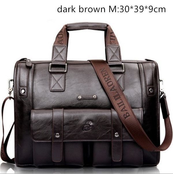 Tmyoy Famous Brand Business Genuine Leather Men Bag 2 Size For