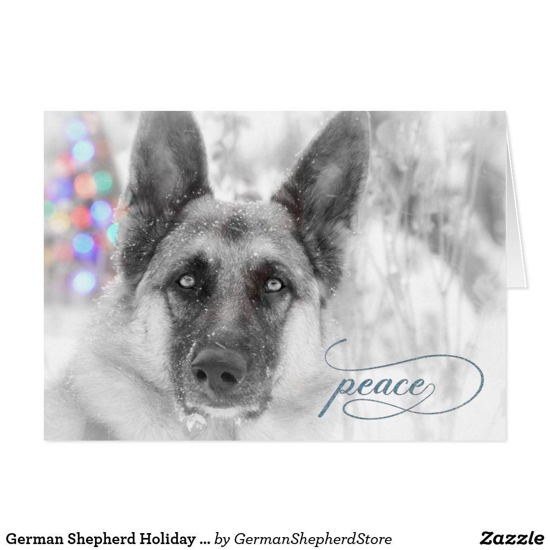 German Shepherd Holiday Greeting Card Shepherds Malinois