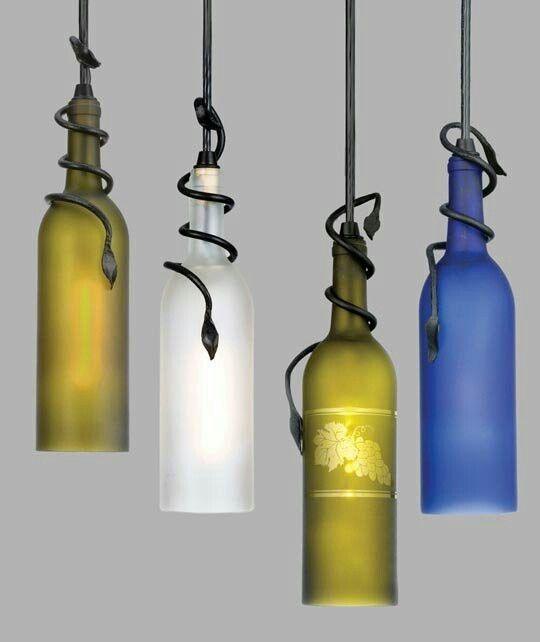 colgantes de vinoFaroles con botellas hechas Lamparas rCexBod