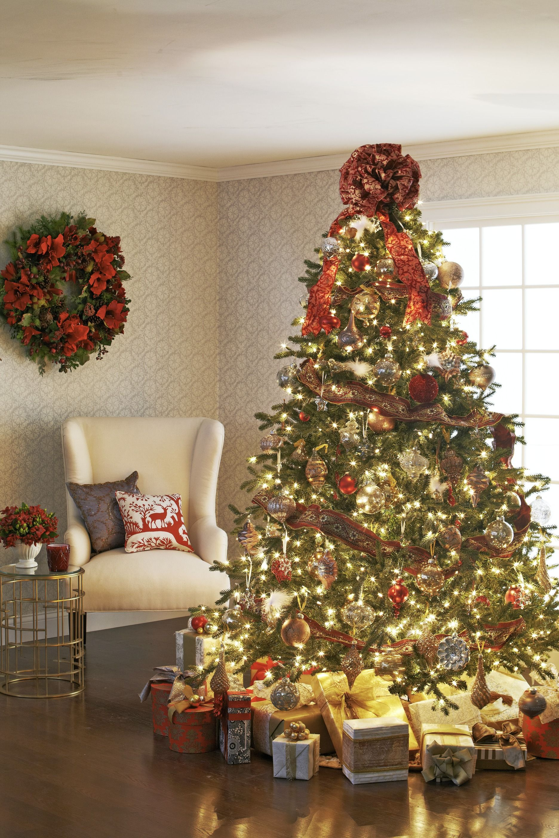Bow Topper Decorating Christmas Trees Traditional Home