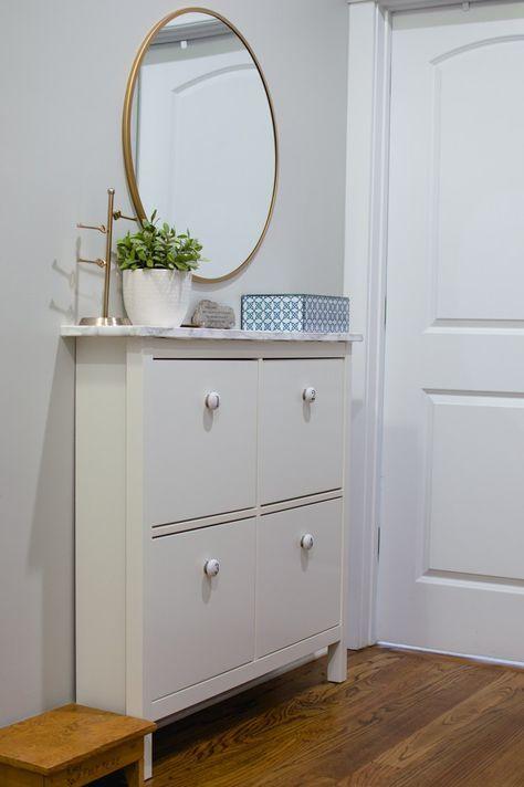 organized mudroom for the home ikea hemnes shoe. Black Bedroom Furniture Sets. Home Design Ideas
