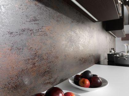 Crédence cuisine  adhésive, sur mesure, verre trempé, en pierre