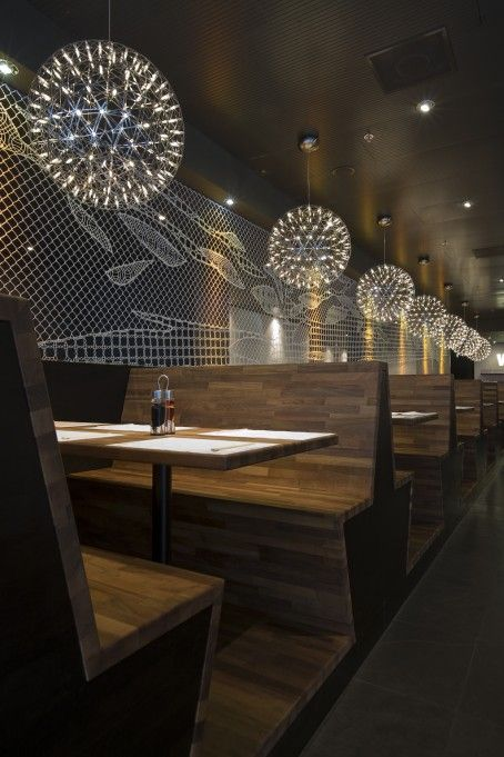 Wagamama the bank amsterdam restaurant design