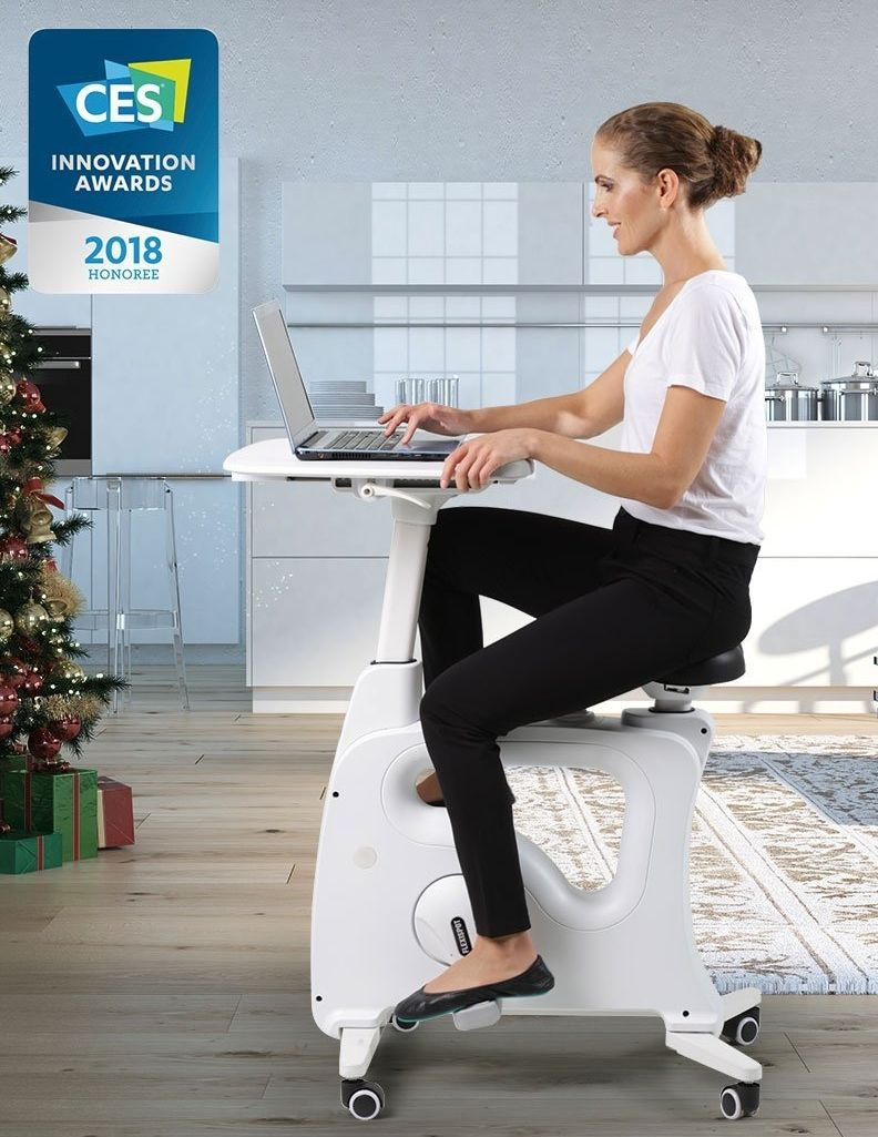 Flexispot Exercise Desk Bike Home Office Height Adjustable Standing Desk Cycle Desk Workout Adjustable Height Standing Desk Biking Workout